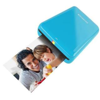 Zip Mobile Printer Instant Photos + 10 Photo Sheets Blue