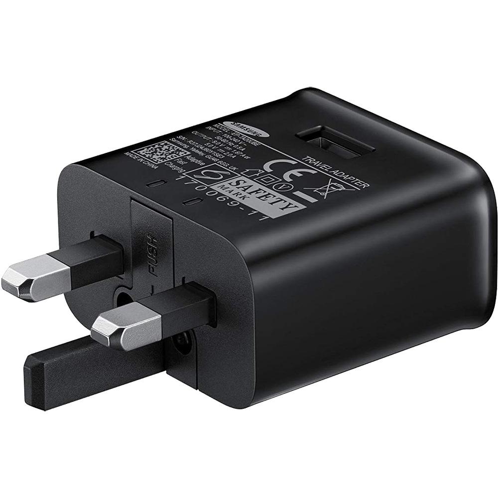 SAMSUNG Adaptor 3 Pini Bulk Negru EP-TA20UBE