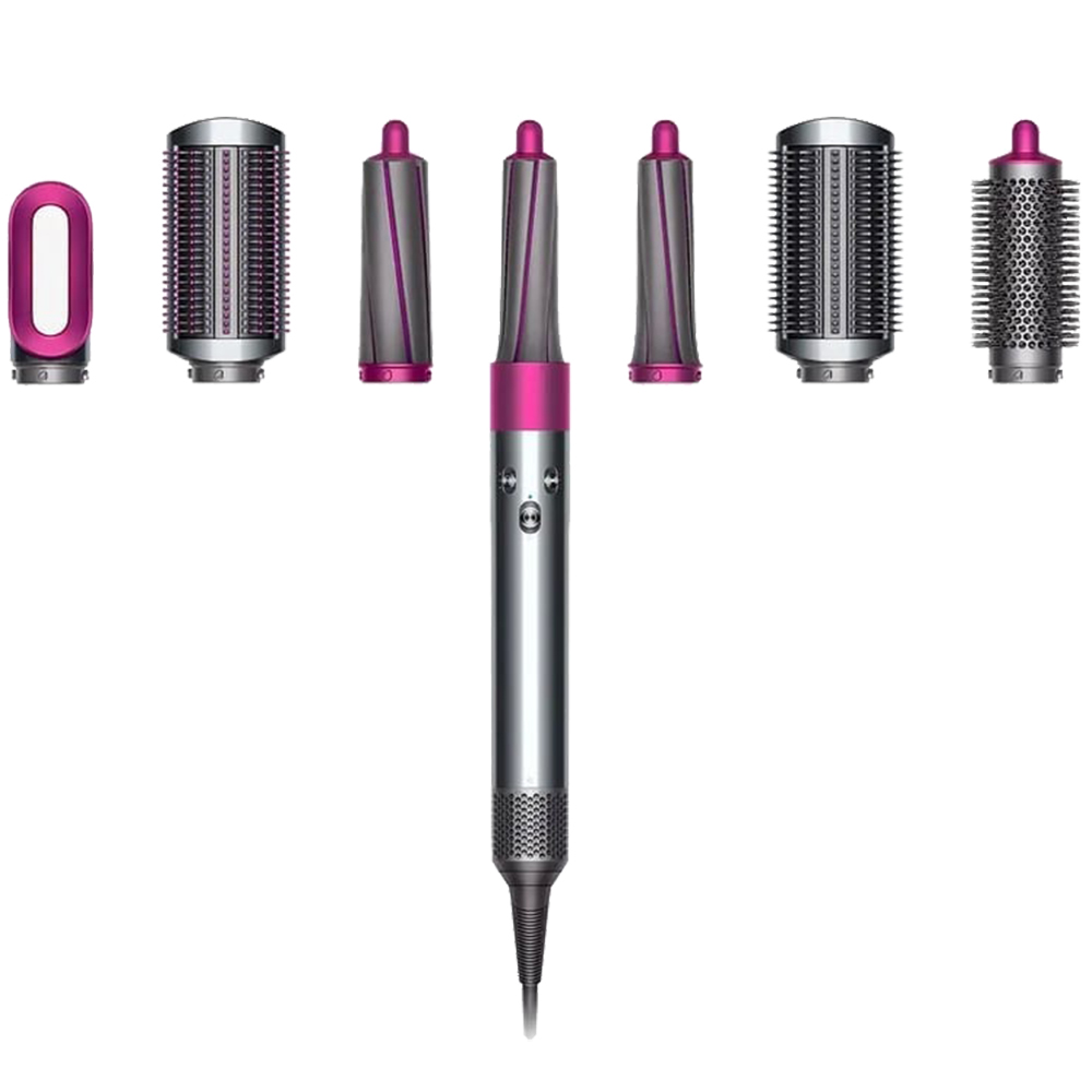 Airwrap Curling Iron With 6 Accessories Pink