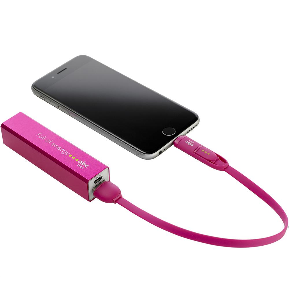 1800mAh Power bank Pink