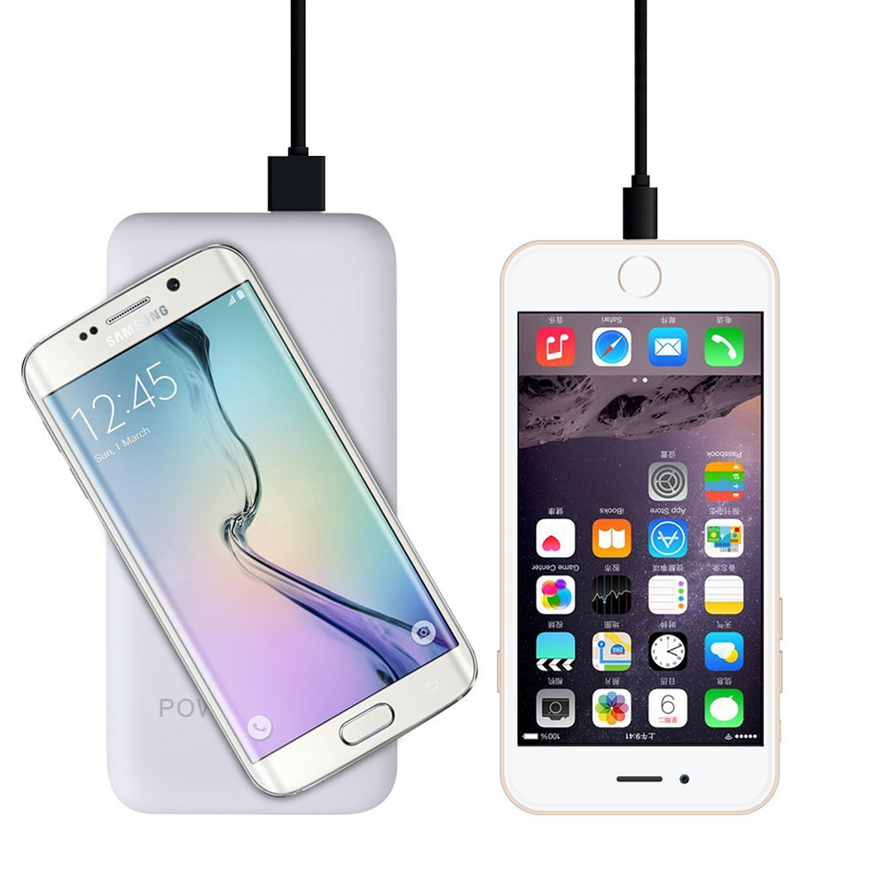 Wireless Charging 12000 mAh Qi Power bank White