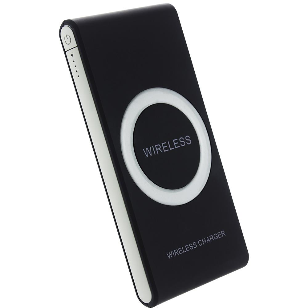 Baterie Externa STAR Cu Incarcare Wireless 7000 mAh Negru Negru W300