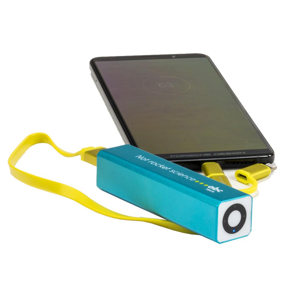 Baterie Externa ABC TECH Cu Led 2600 mAh Albastru