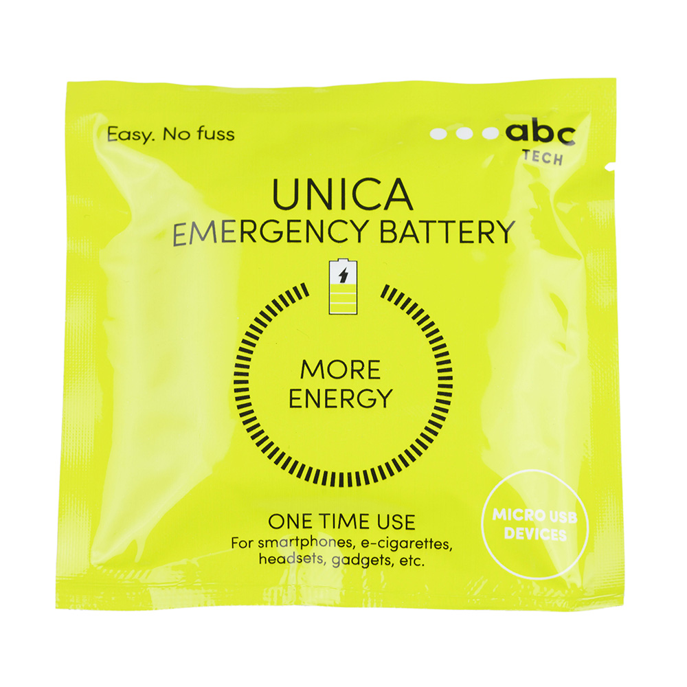 Unica Emergency Powerbank With Micro USB Conector