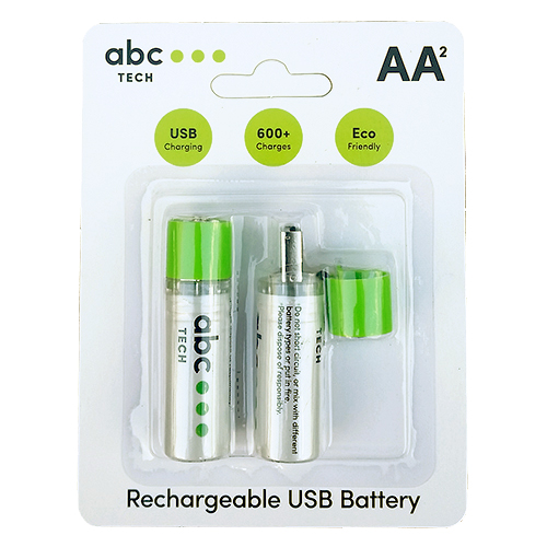 Rechargeable Battery With USB Type AA (R6)