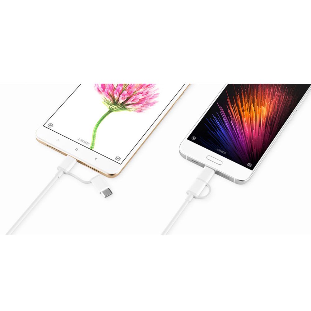 Phone Cables And Adapters 2 In 1 Micro Usb Type C 100cm Data Cable Kabel Samsung Galaxy Tab Original 100