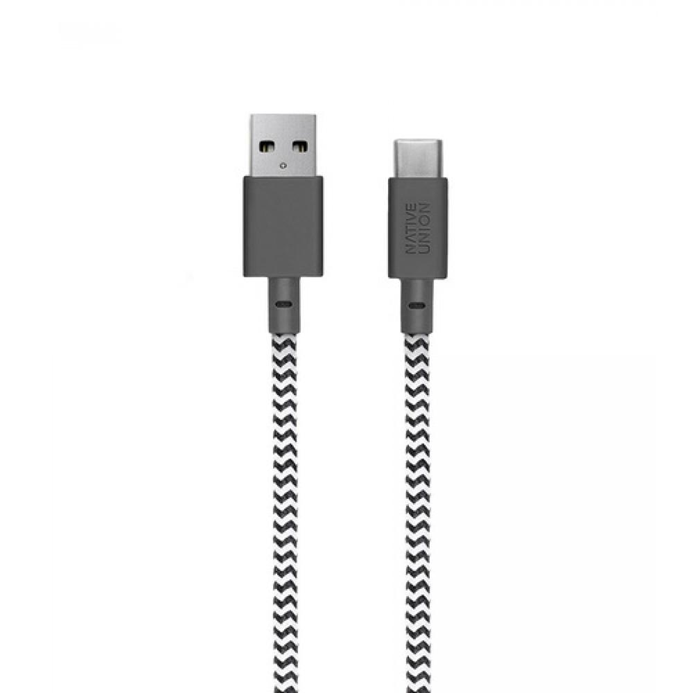 Cablu Date NATIVE UNION Type A-C 1.2M Zebra BELT-KV-AC-ZEB Gri