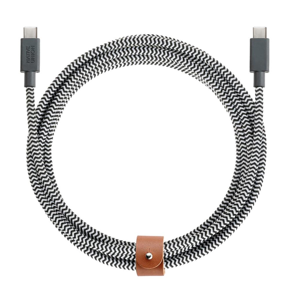 Cablu Date NATIVE UNION Type C 3M Zebra BELT-KV-AC-ZEB-3 Gri