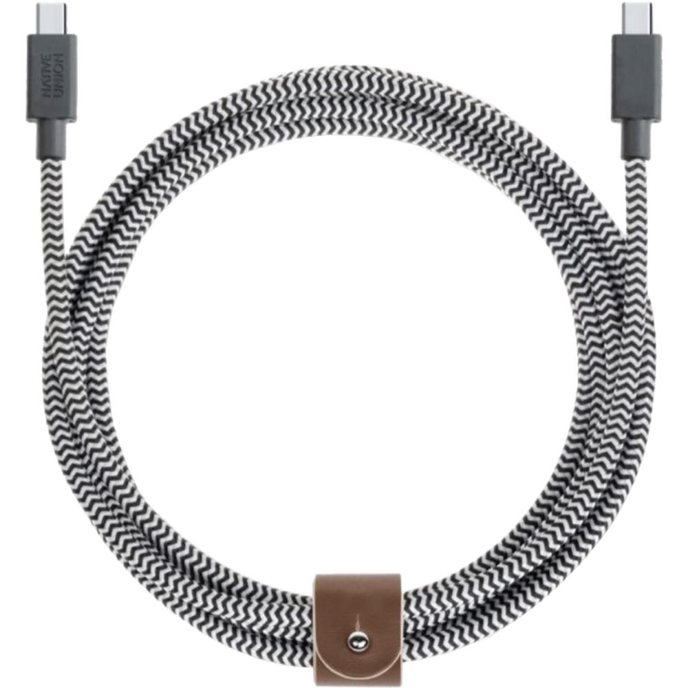 Cablu Date NATIVE UNION Type C Zebra 2.4M BELT-KV-C-ZEB Gri