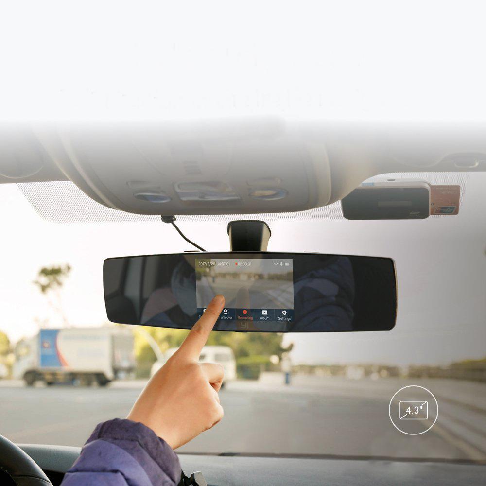 Dashboard Cameras Yi Mirror Dash Camera Black Surveillance Bumper Xiaomi