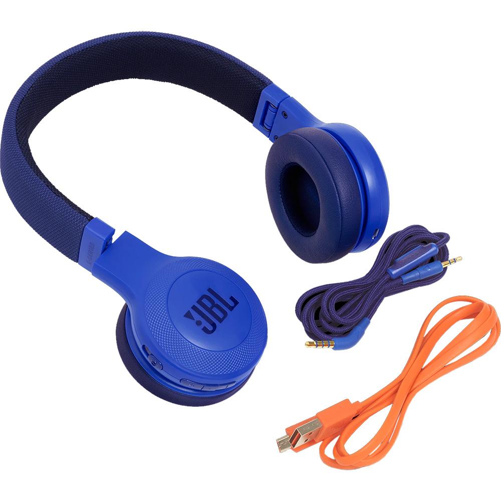 Blue JBL E45BT On-Ear Wireless Bluetooth Headphones JBLE45BTBLU