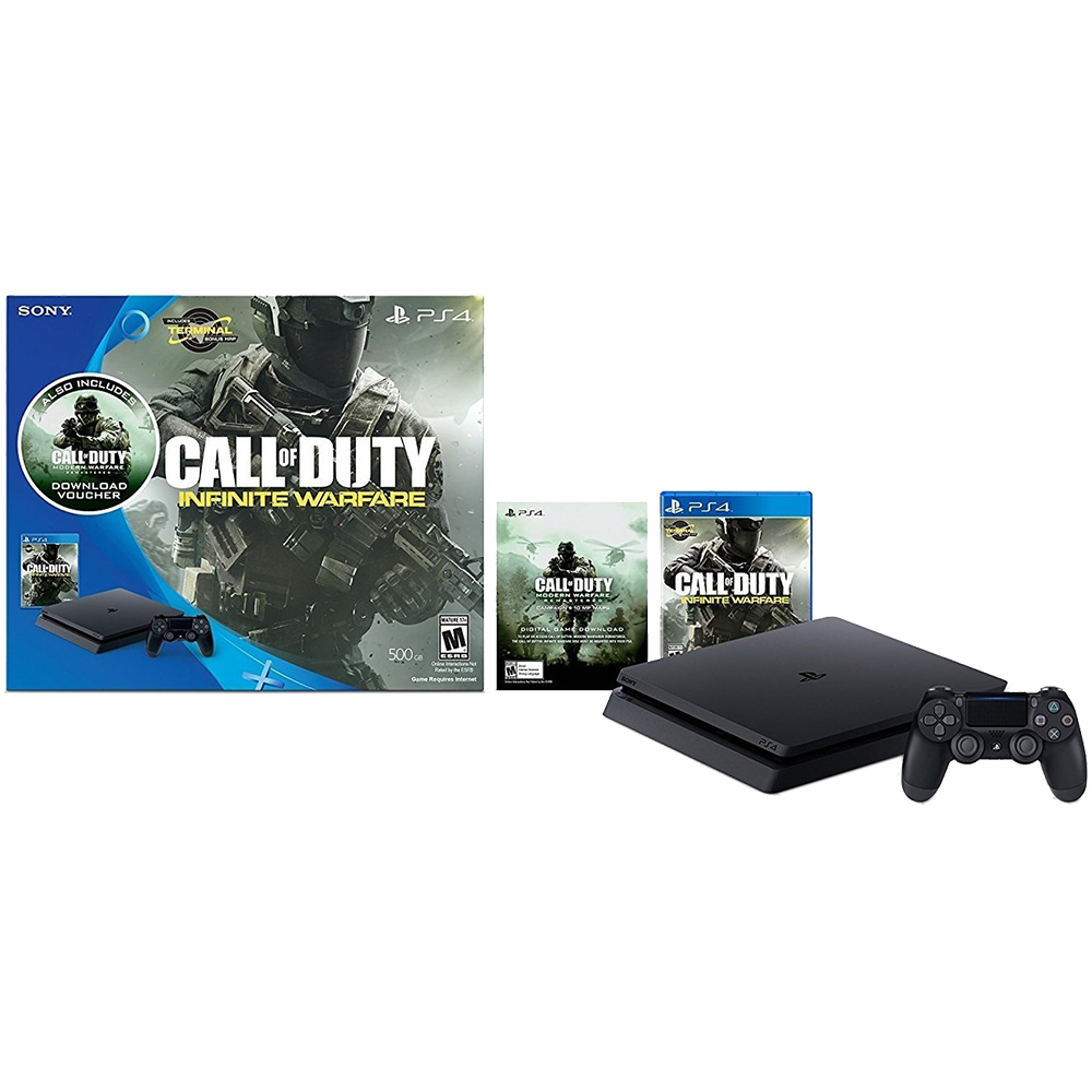 Playstation 4 Slim Console 500gb Call Of Duty Infinite Warfare Game Sony Ps4 Kamera