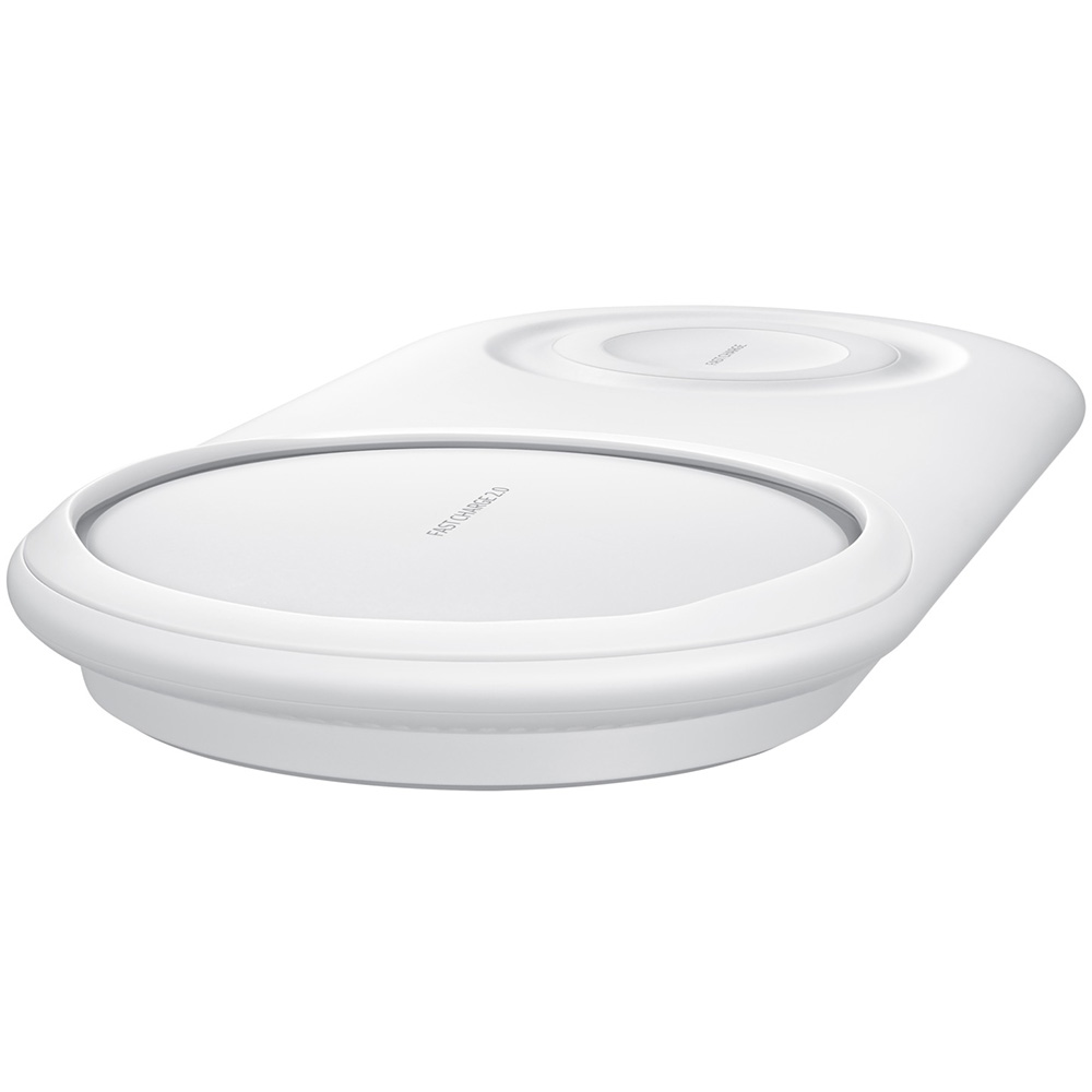Duo Pad Fast Charge Wireless Charger  White
