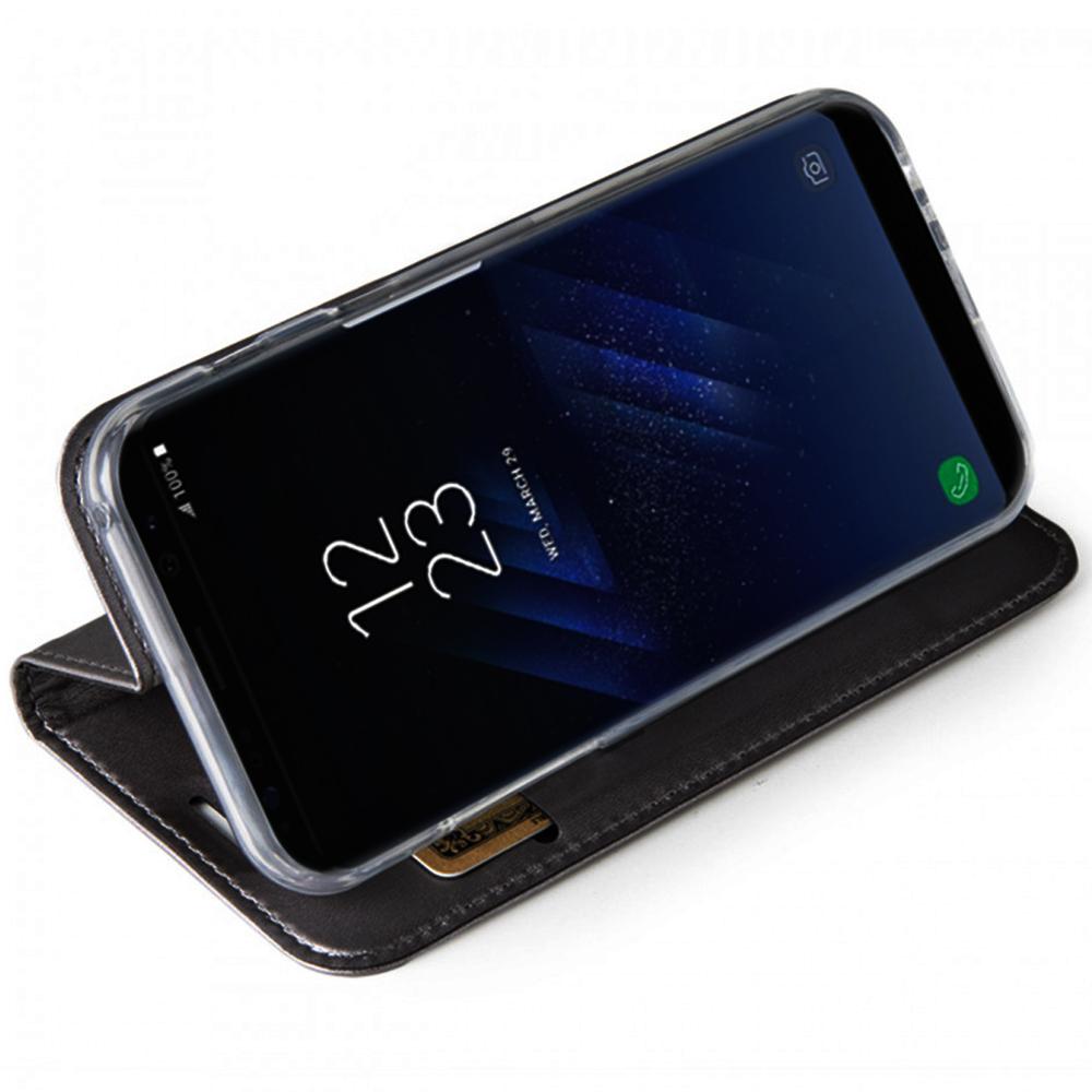 Husa Agenda ZMEURINO Card Slot Negru WALFOLCIX_SGS8BK SAMSUNG Galaxy S8