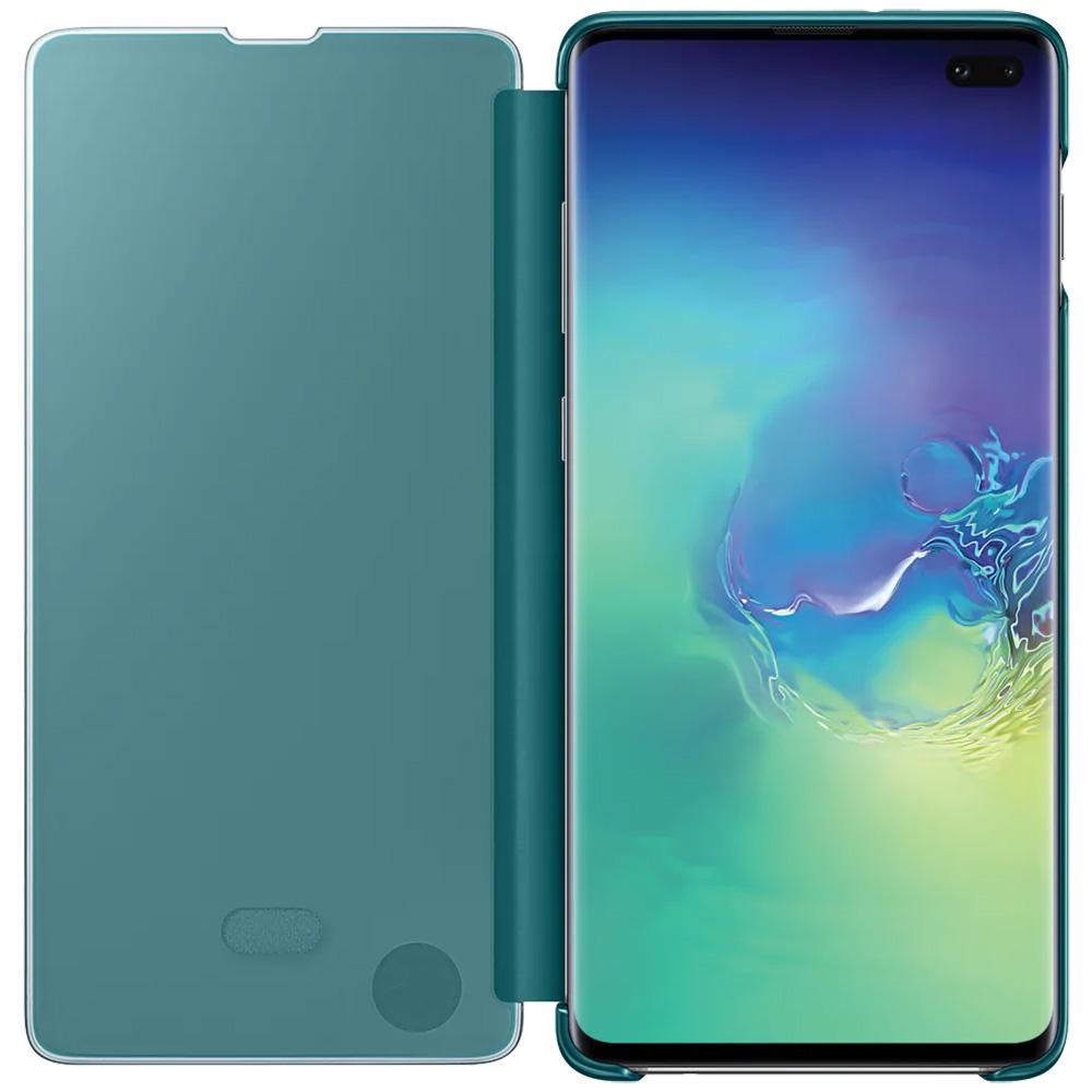 Clear View Book Green SAMSUNG Galaxy S10 Plus