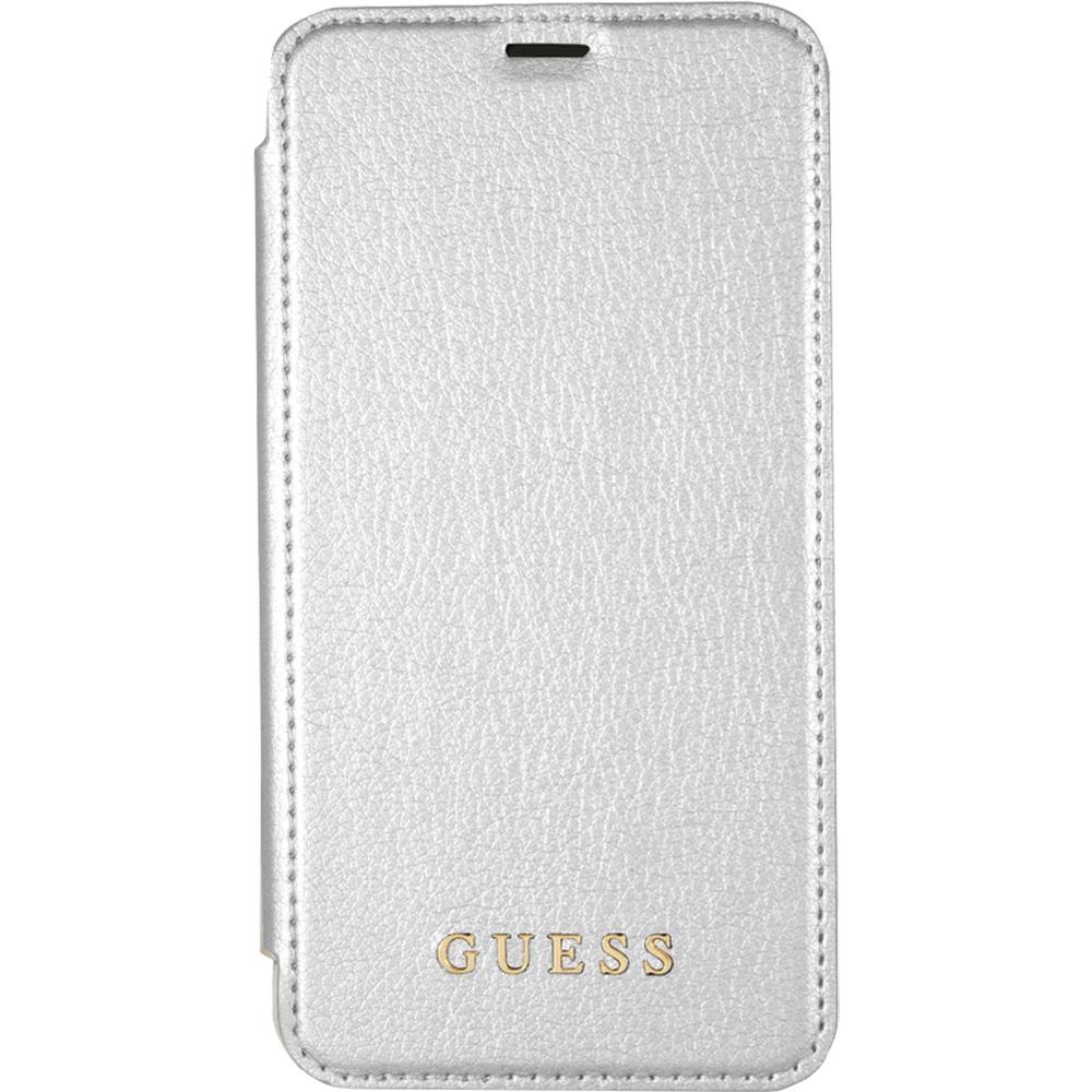 Husa Agenda GUESS Piele Argintiu GUFLBKPXIGLTSI APPLE iPhone X