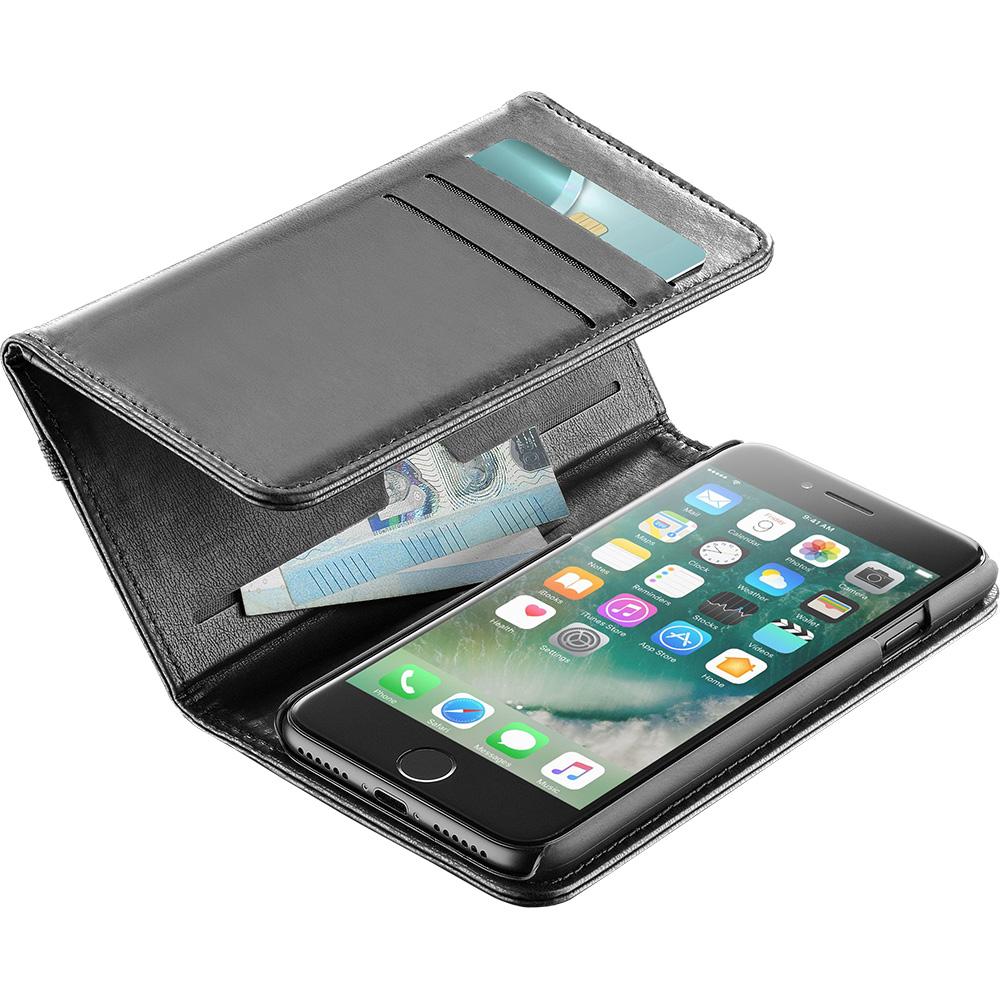 Wallet Book Black Apple iPhone 7, iPhone 8