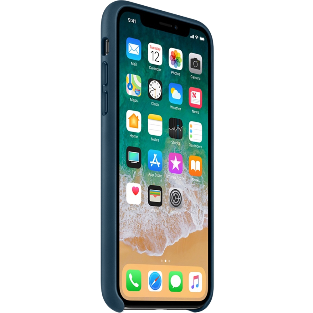Leather Back cover Blue APPLE iPhone X