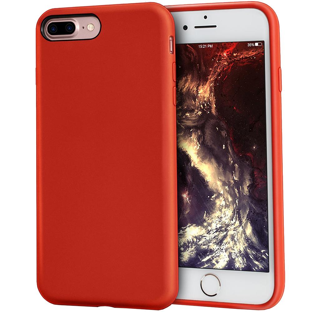 Husa Capac Spate ZMEURINO Flexibila Rosu CLVRUB_IP7PRD Apple iPhone 7 Plus, iPhone 8 Plus