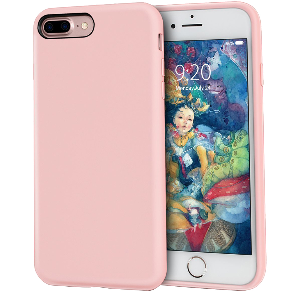 Husa Capac Spate ZMEURINO Flexibila Roz CLVRUB_IP7PPK Apple iPhone 7 Plus, iPhone 8 Plus