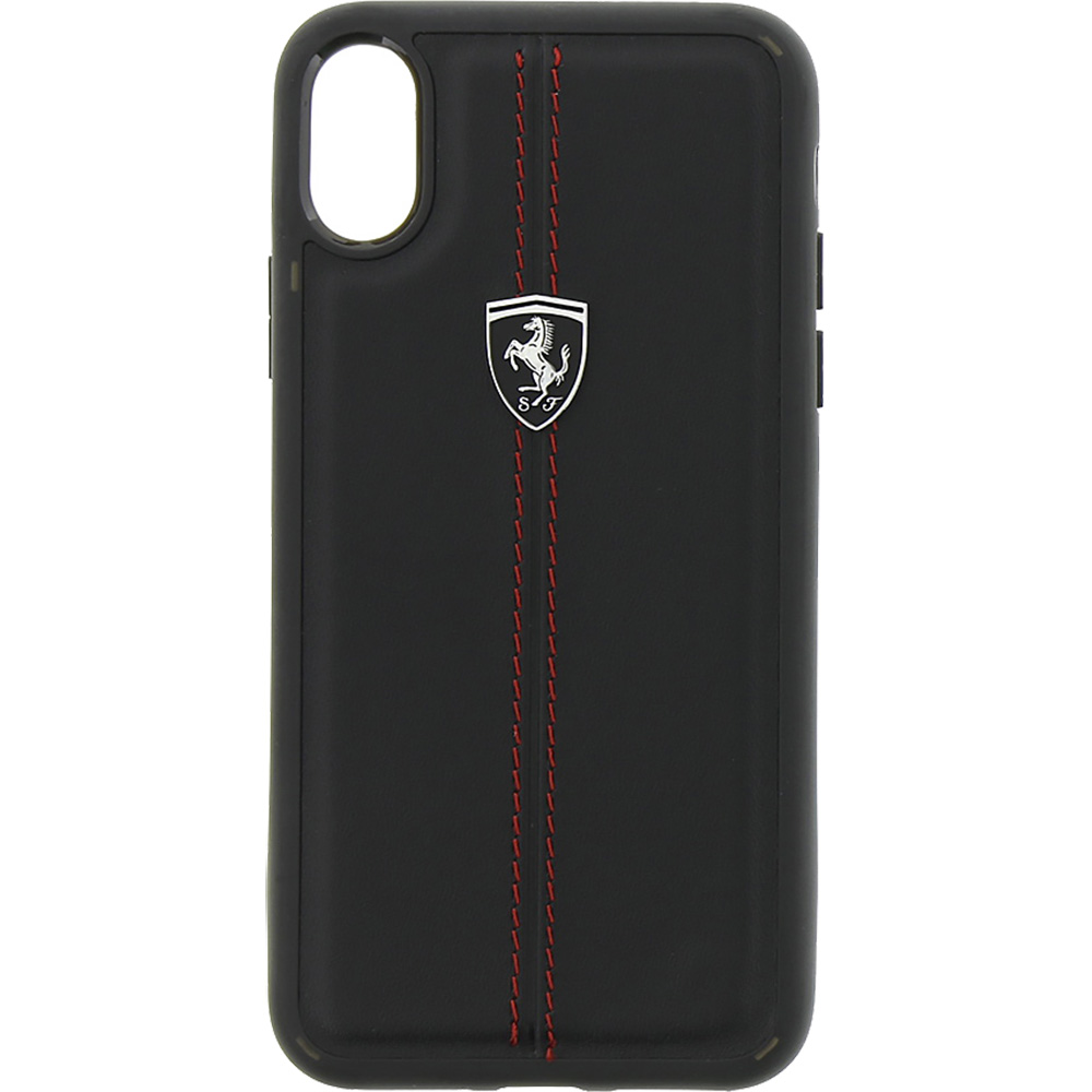detailed look 3a8ca 1d285 Phone Cases Heritage Back cover Black APPLE iPhone X 185437 FERRARI ...