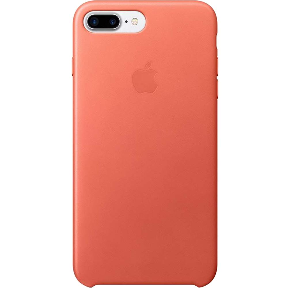 Leather Geranium Back cover Red Apple iPhone 7 Plus, iPhone 8 Plus