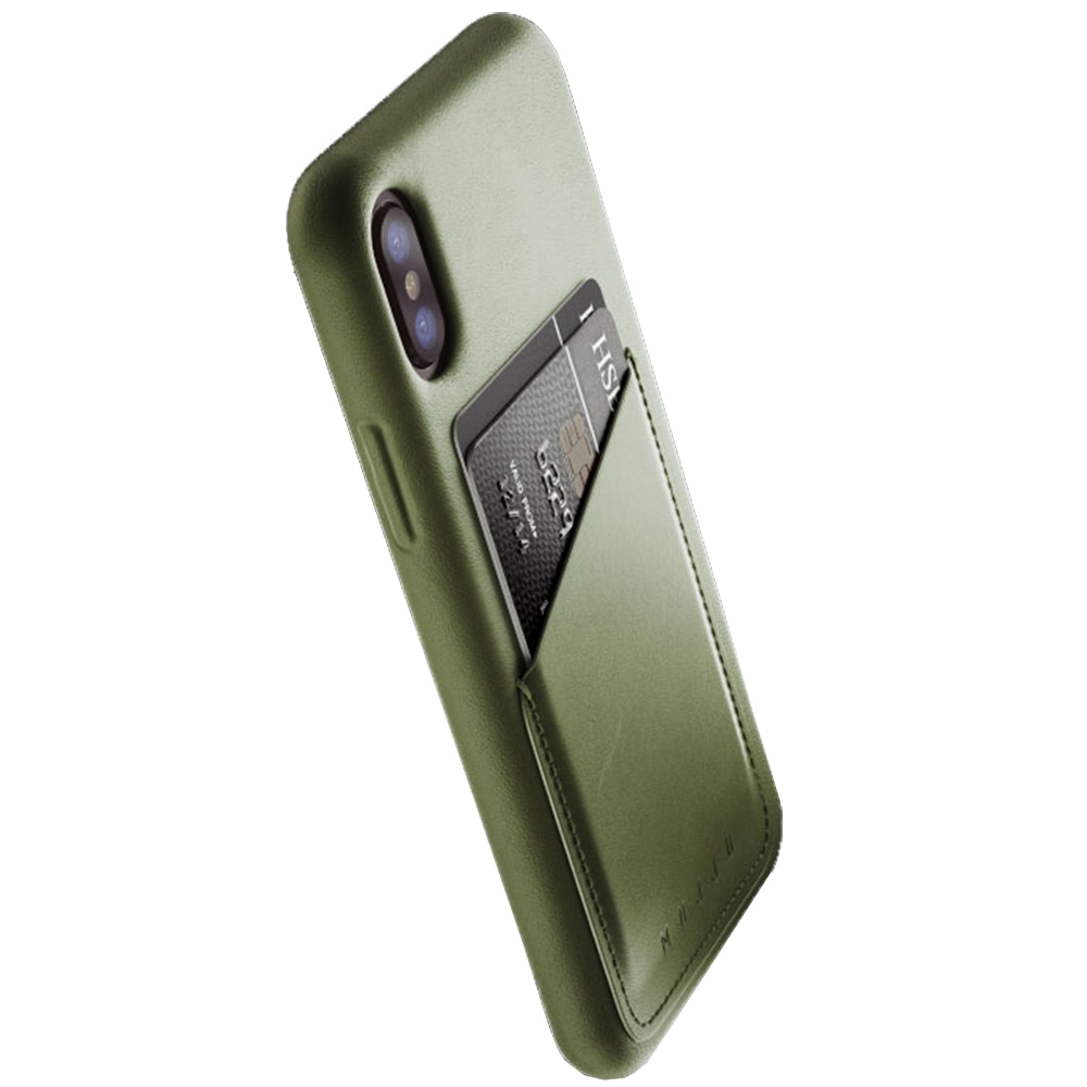 Leather Back cover Green APPLE iPhone X, iPhone Xs
