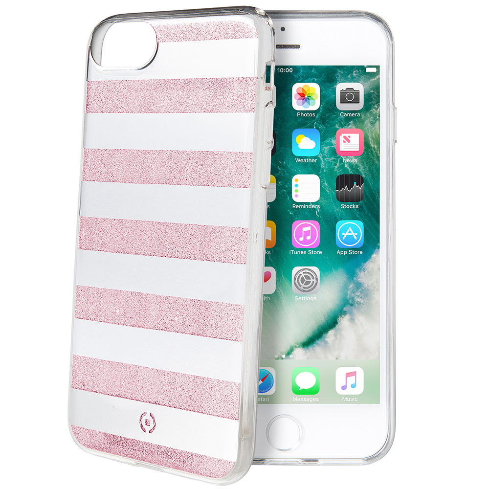 innovative design d0164 61fdc Phone Cases Stripes White Pink Back cover Pink Apple iPhone 7 ...