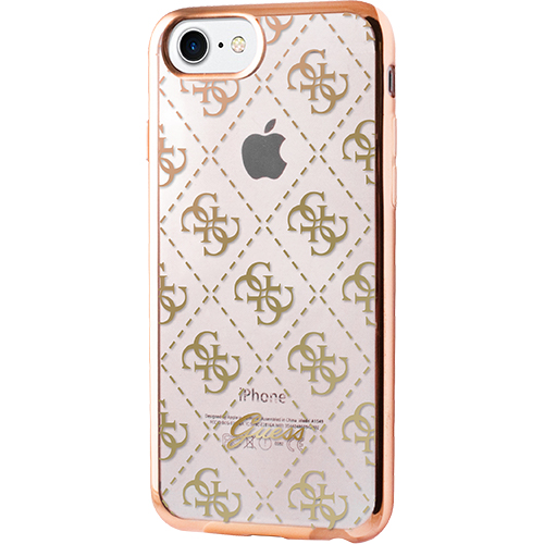 low priced 5ee3b ef16b Phone Cases Transparent Back cover Gold Apple iPhone 7 Plus 140879 ...