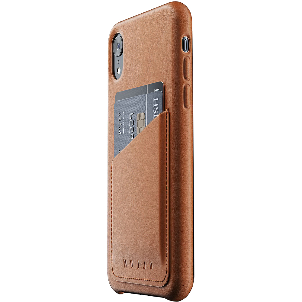 Wallet Leather Back cover Brown APPLE iPhone XR