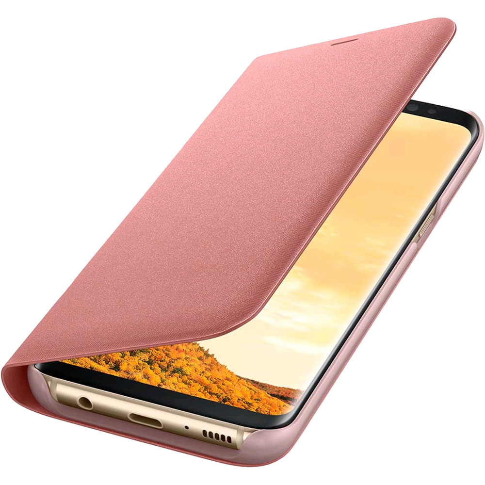 Phone Cases Led View Book Pink Samsung Galaxy S8 Plus
