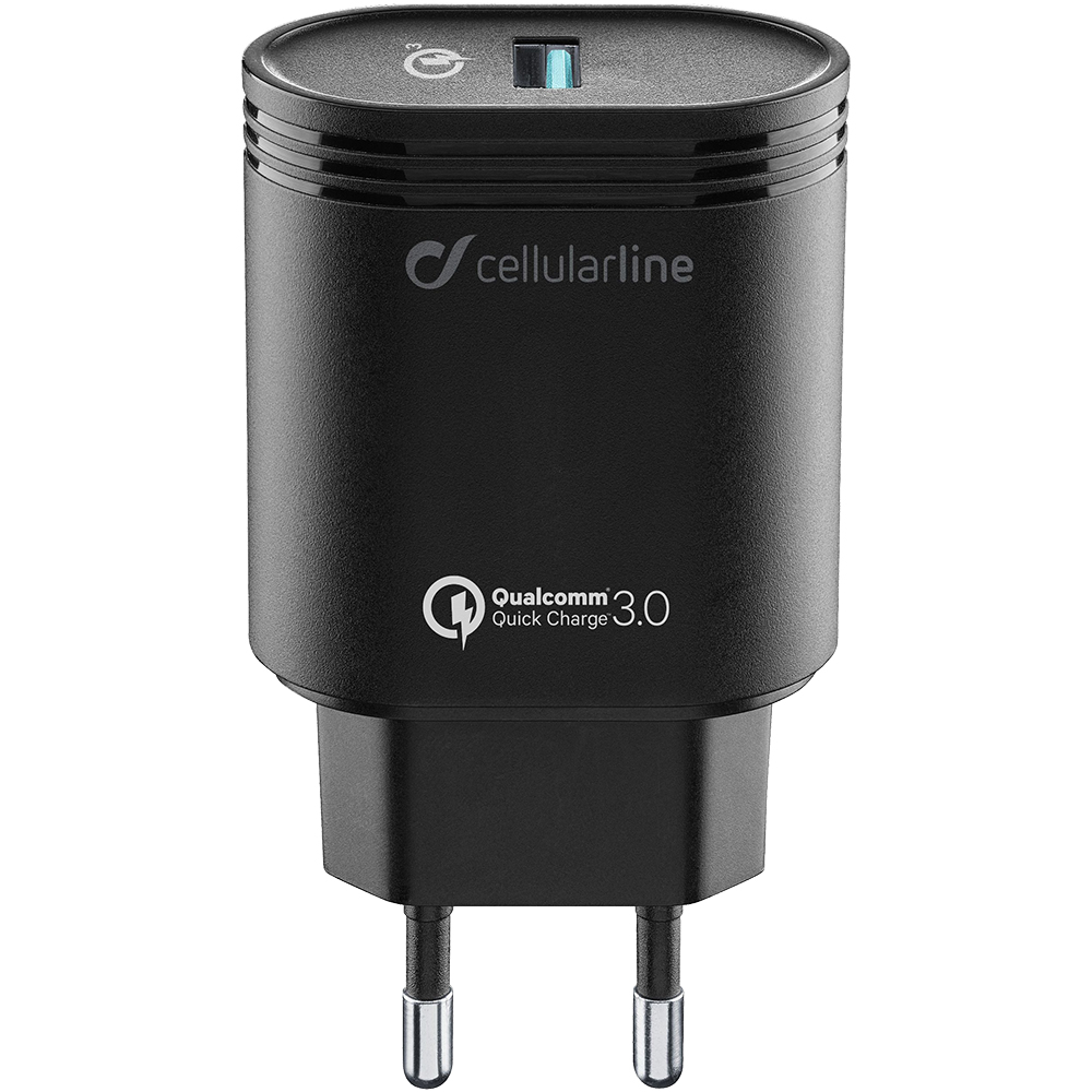 Incarcator Priza CELLULARLINE 3.0 USB Cu Incarcare Rapida ACHHUUSBQCK Negru
