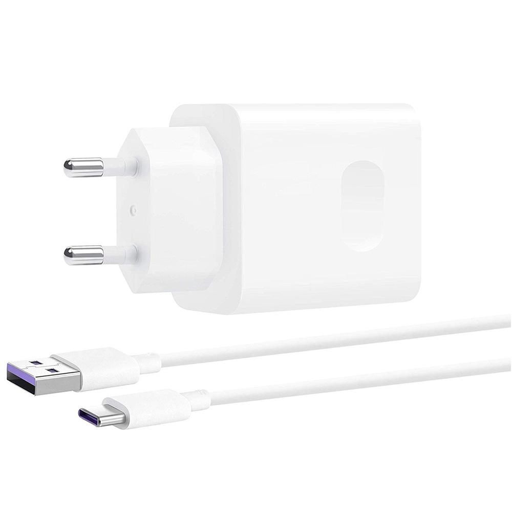 CP84 Super Charge 5A + USB Type C Wall Charger  White