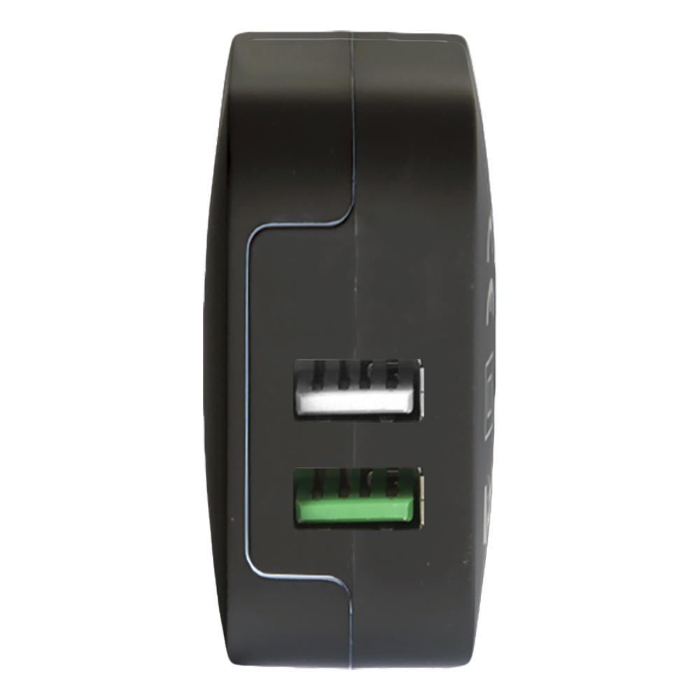 Incarcator Priza CELLY Cu Incarcare Rapida TurboCharge Doua Porturi USB TC2USBTURBOBK Negru