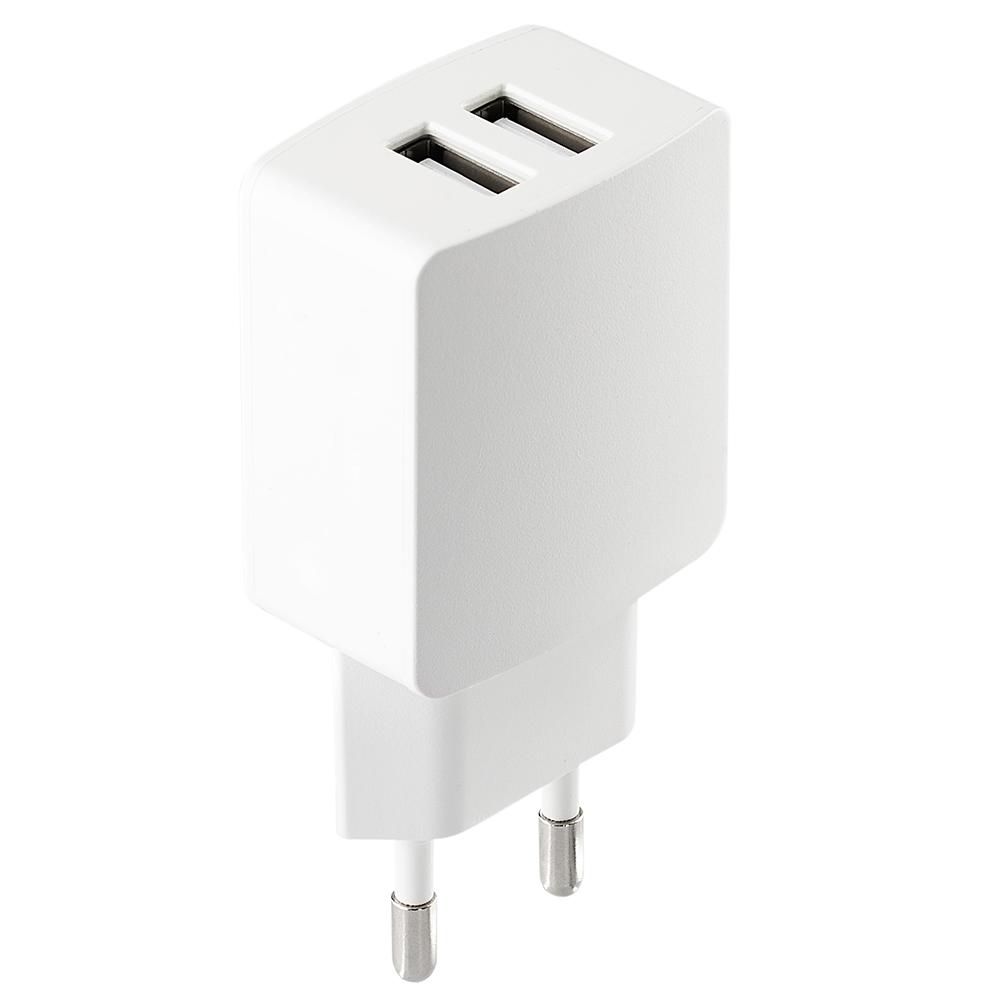 Incarcator Priza ZMEURINO Dual USB 2.1 Amp CLVCHRGDUALWH Alb