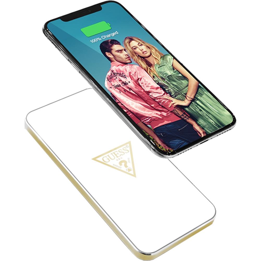 Incarcator Wireless GUESS Portabil 1000mAh Alb GUWCP850TLWH Alb