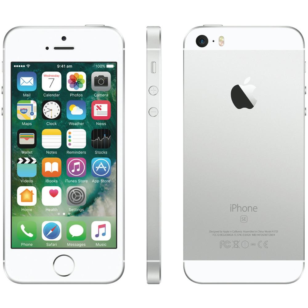 mobile phones iphone se 128gb lte 4g silver 164527 apple. Black Bedroom Furniture Sets. Home Design Ideas