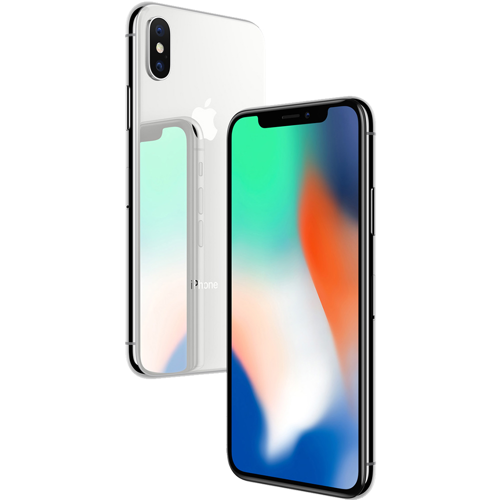 IPhone X 64GB LTE 4G Silver Factory Refurbished 3GB RAM
