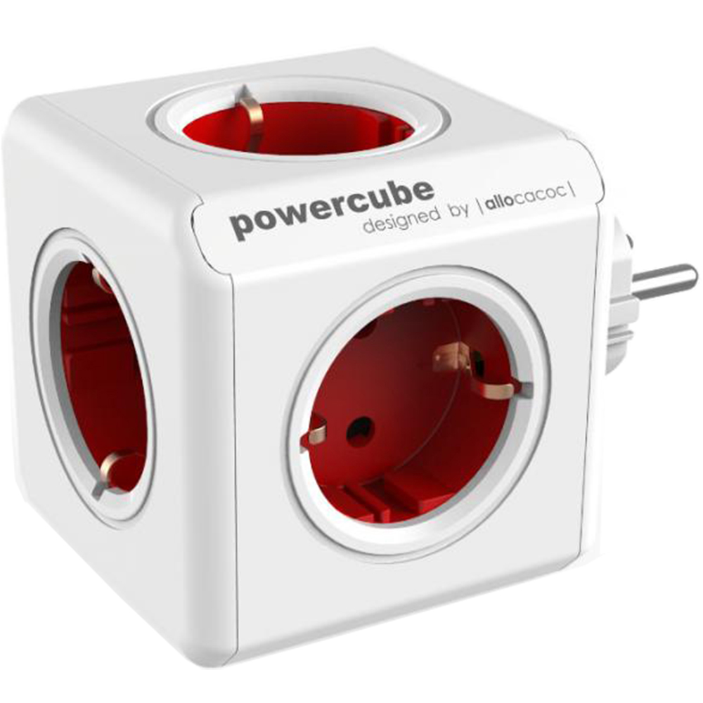 Compact 4 Port Socket Red