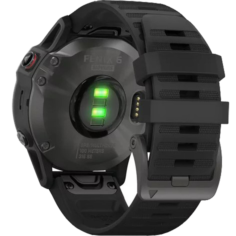 Fenix 6 Sapphire Edition Gray With Black Band