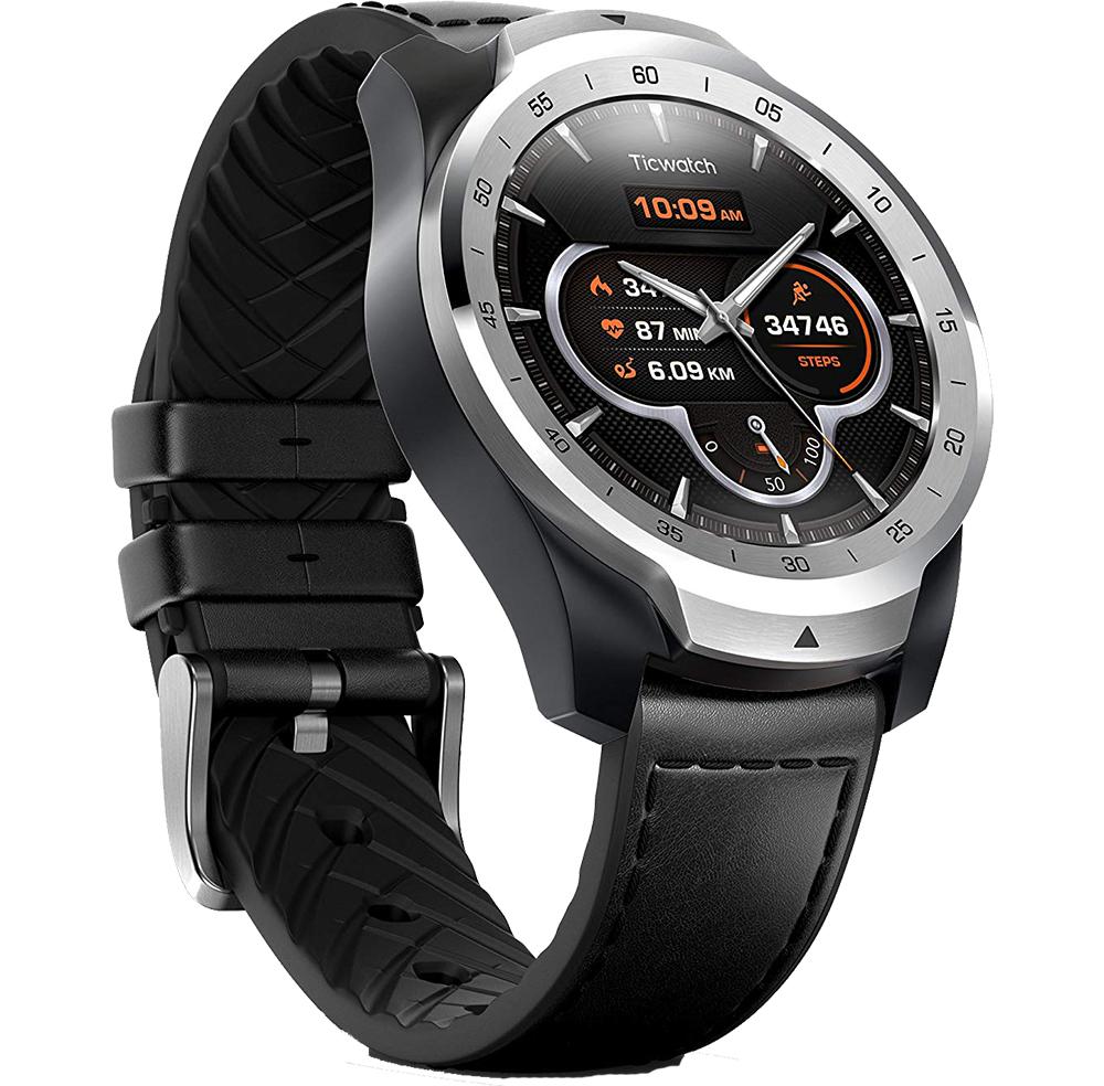 TICWATCH Smartwatch Pro Waterproof si NFC Argintiu