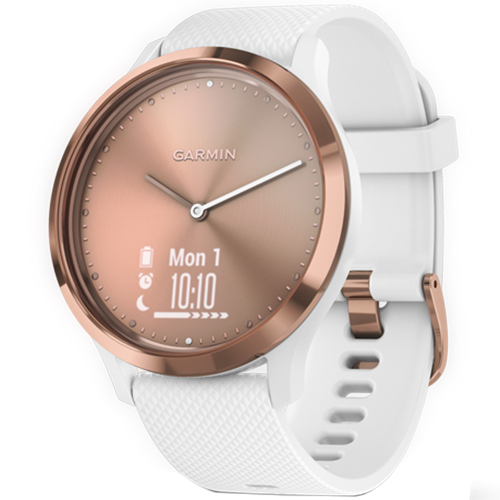 Smartwatch Vivomove HR Rose Gold With White Band