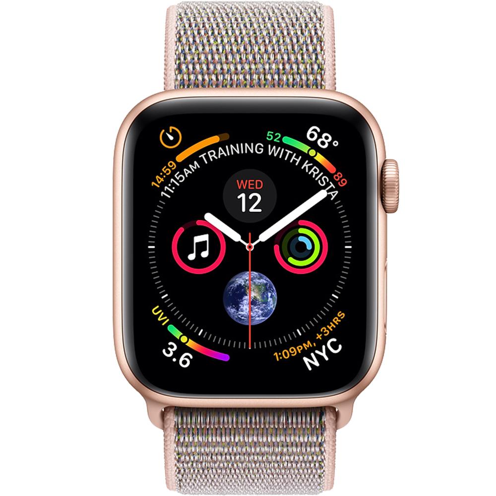Watch 4 GPS 44MM Gold Aluminium And Pink Loopp Band