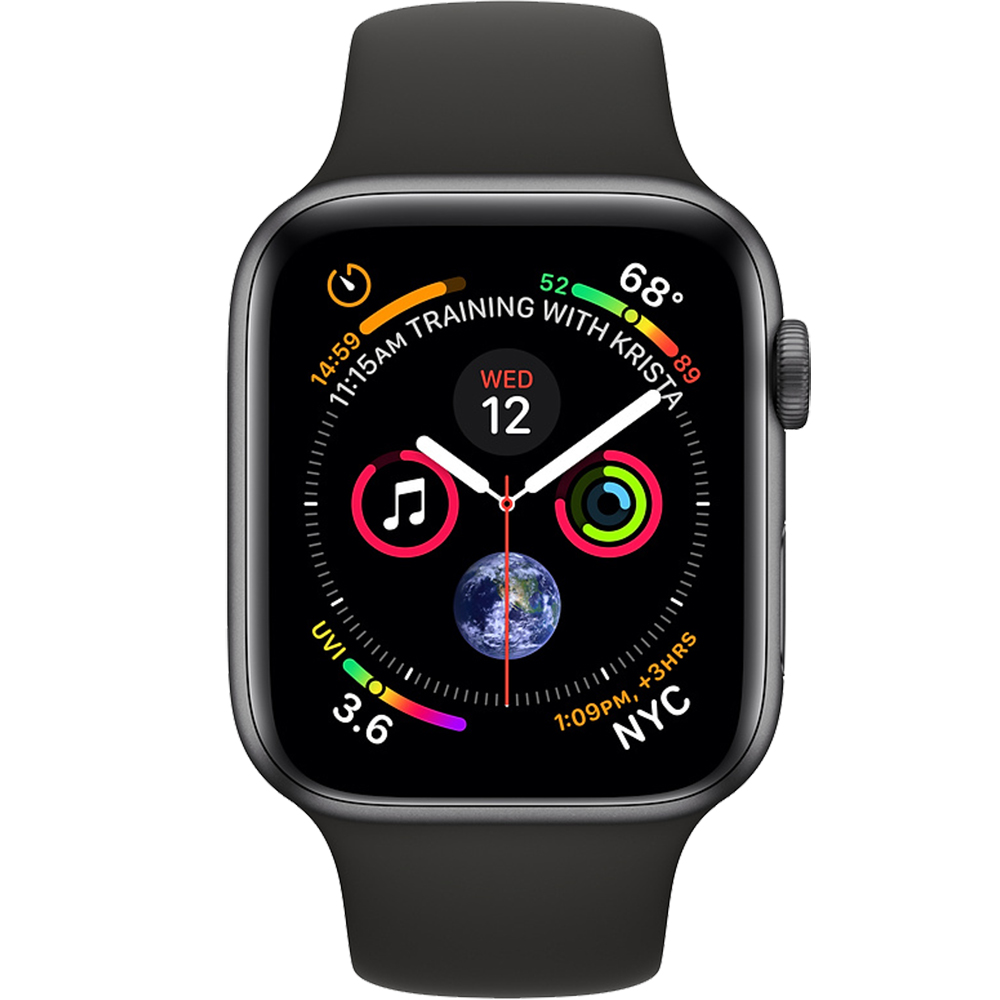 Watch 4 GPS 44MM Black Aluminium And Black Sport Band