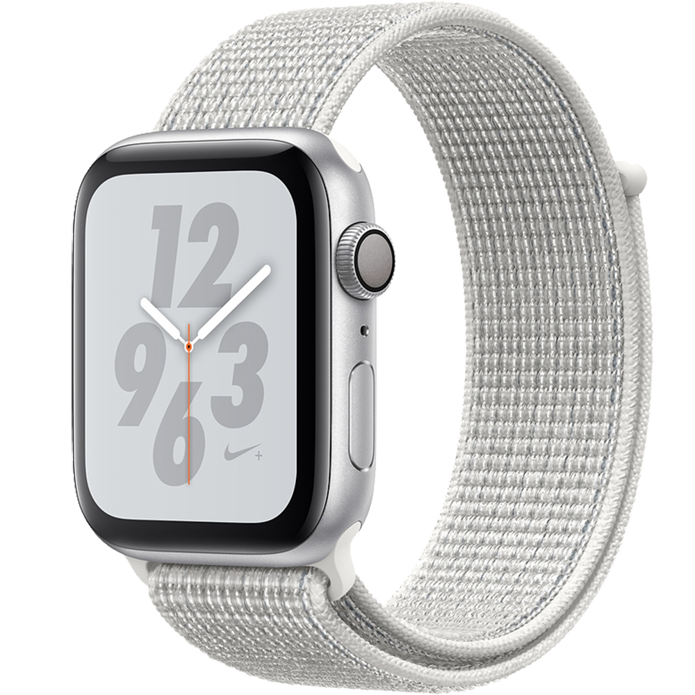 Watch 4 Nike Plus GPS 44MM Silver Aluminium And Loop White Sport Band