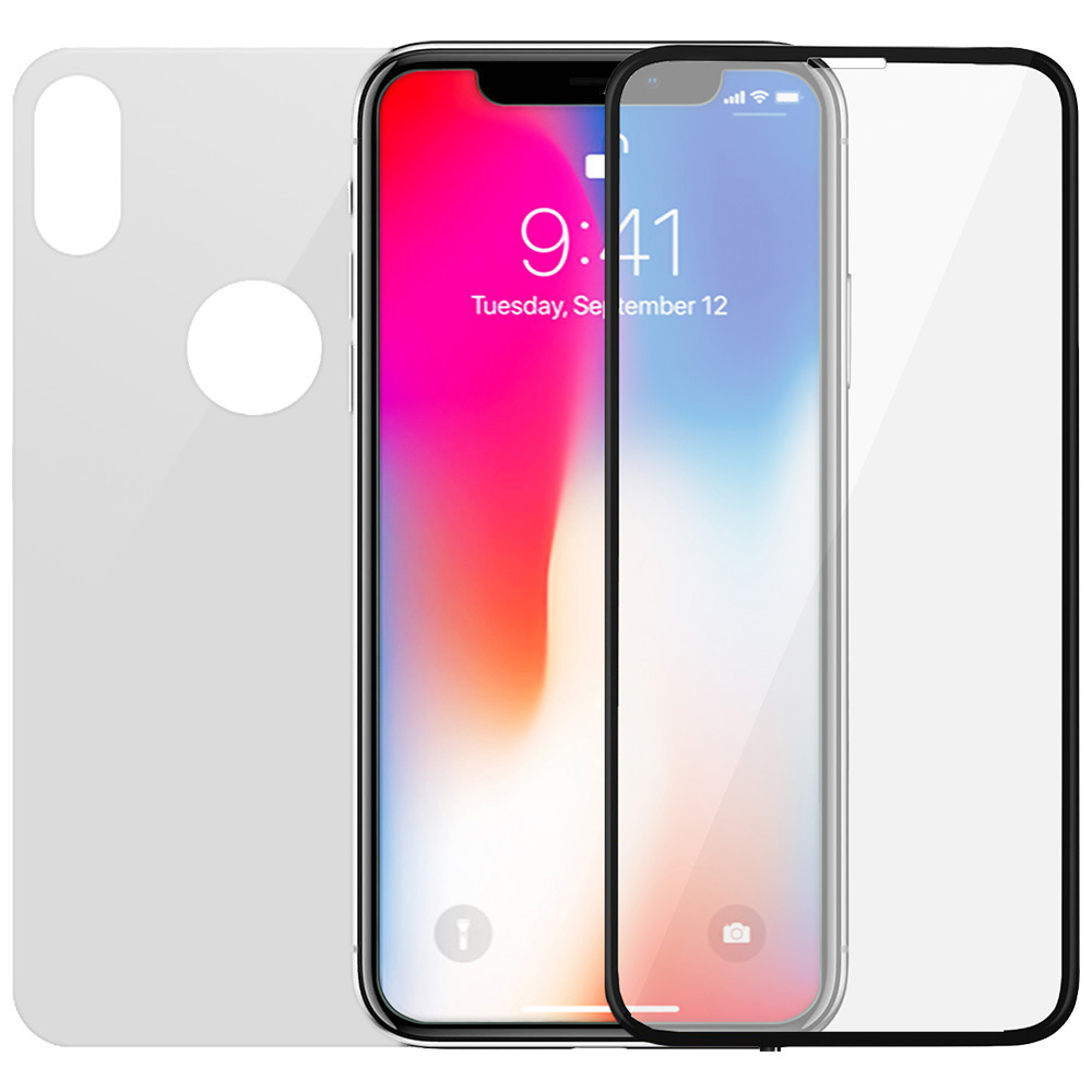 Full Body Glass Screen Protector 3D Curved Front And Back APPLE iPhone X, iPhone Xs
