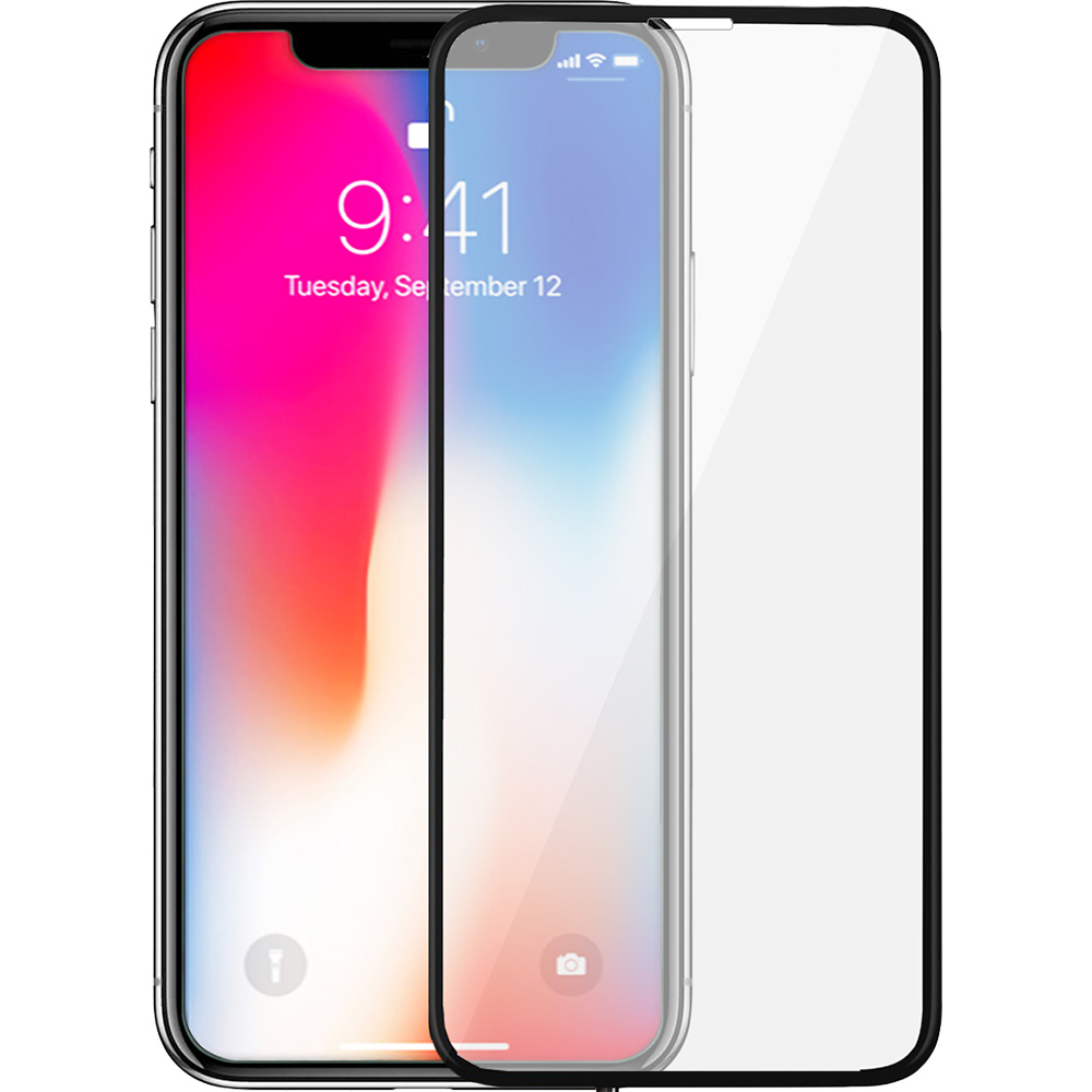 Full Body Glass Screen Protector 3D Curved Front Back Grey APPLE iPhone X, iPhone Xs