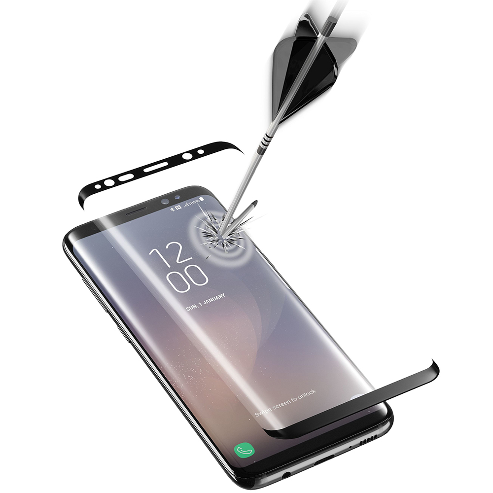 Sticla Securizata Full Body CELLULARLINE Negru TEMPGCUCFGALS8K SAMSUNG Galaxy S8