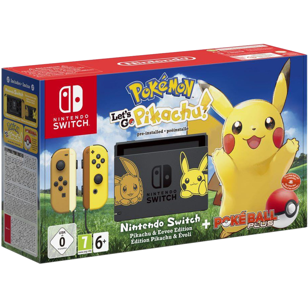 Switch Pokemon Let's Go Pikaciu + Ball Plus