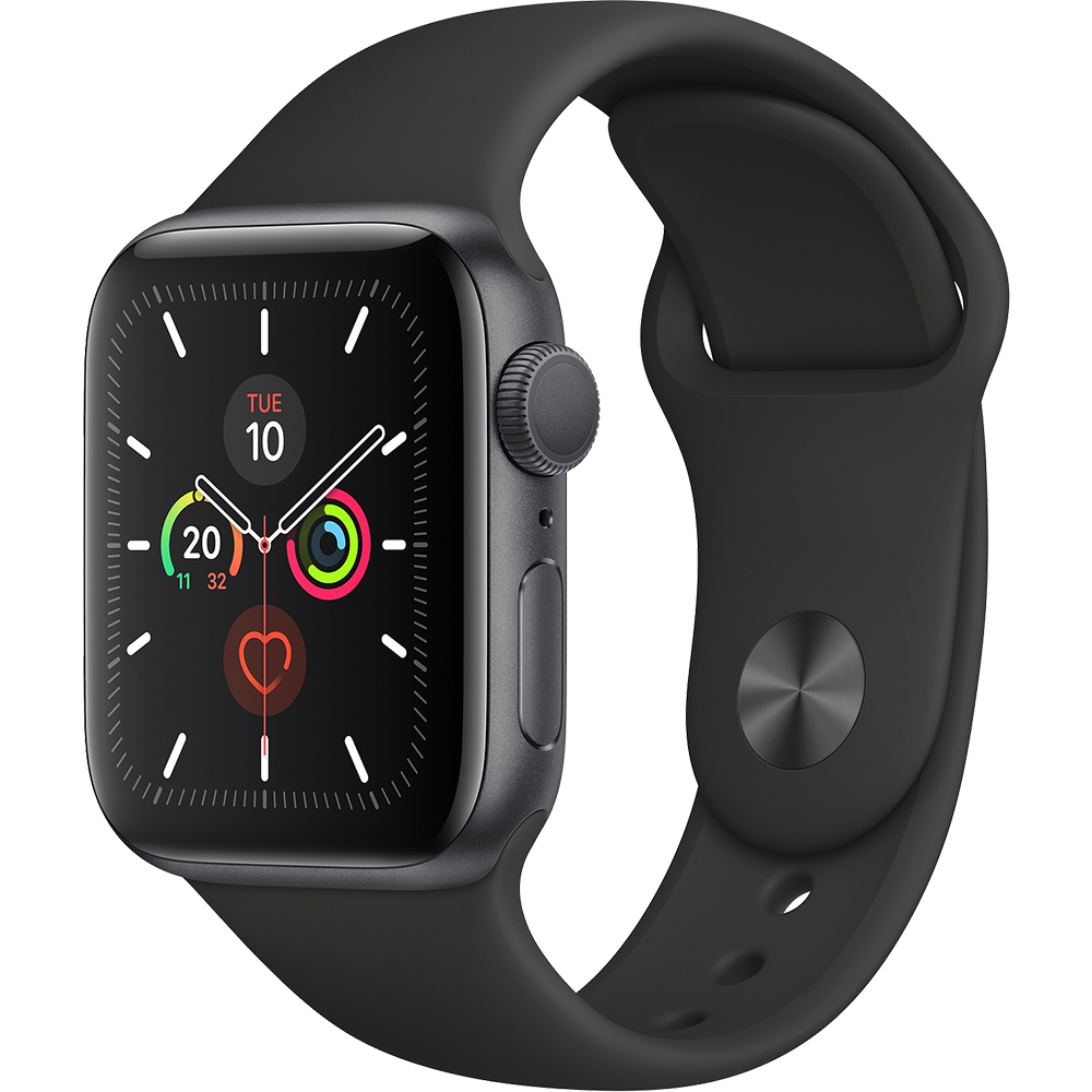 Watch 5 GPS Black Aluminium 40MM And Black Silicone Band